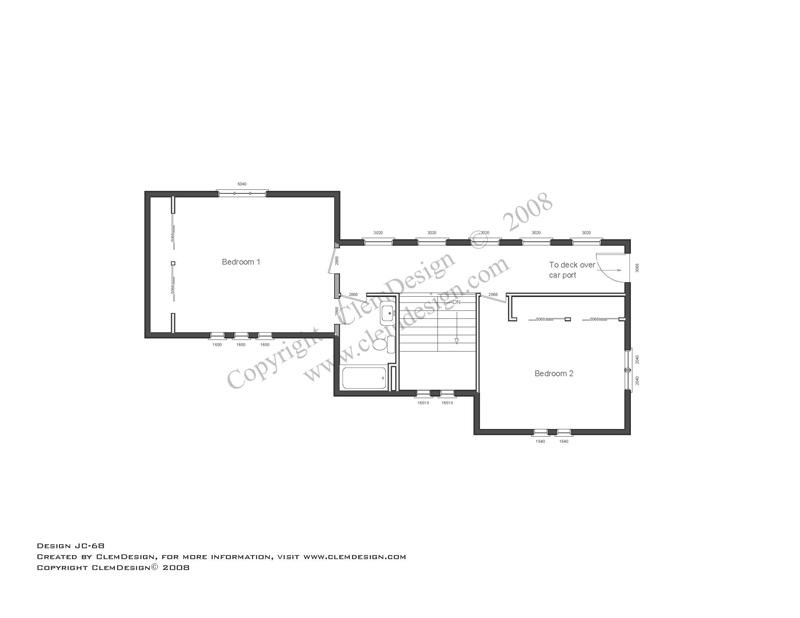 2nd Floor Modern House Plans Design Mid Century Modern Style